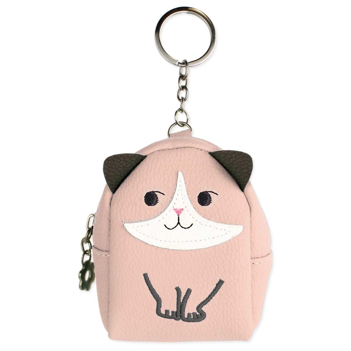 Pink Cat Mini Backpack Key Chain