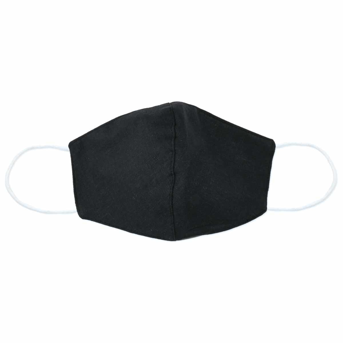 Black Linen Face Mask