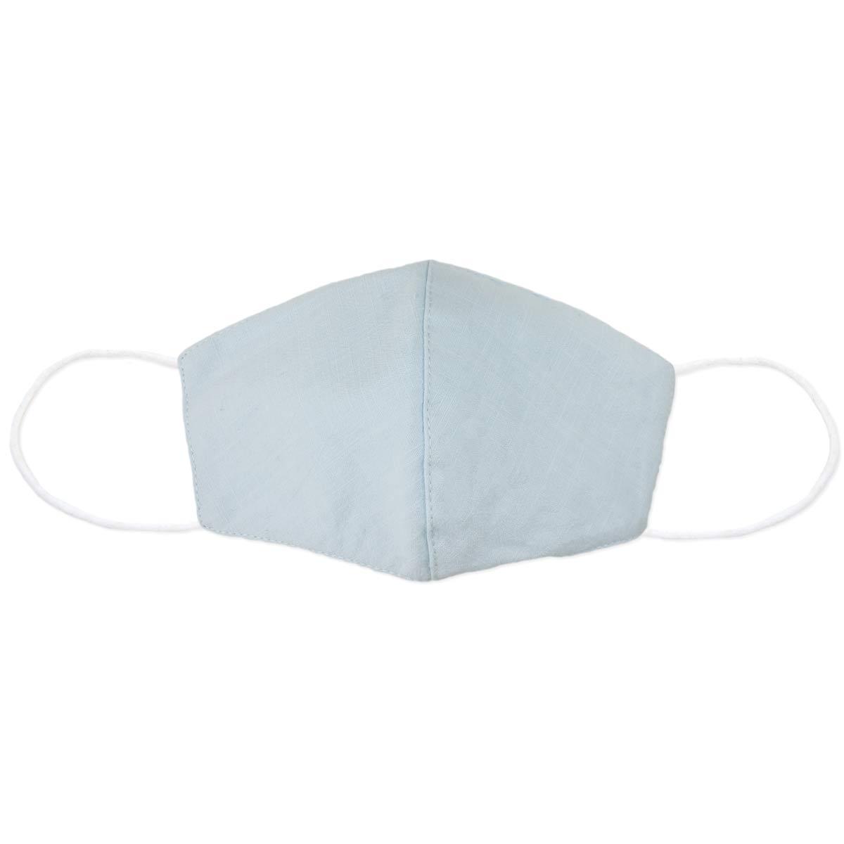 Light Blue Linen Face Mask