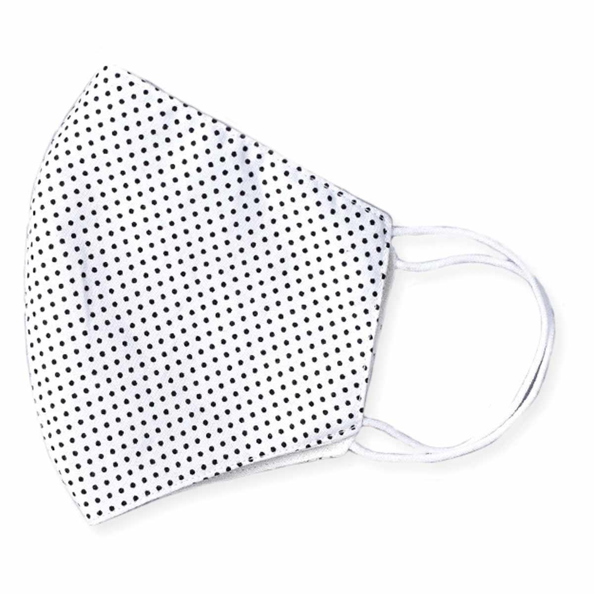 White & Black Polka Dot Face Mask