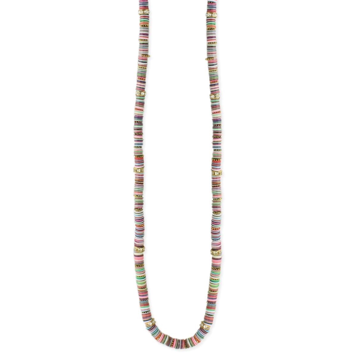 Sequins Stacked Long Necklace