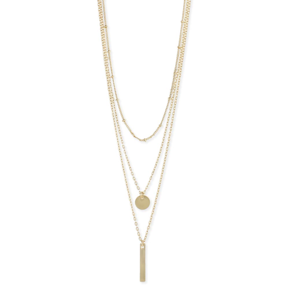 necklace delicate drop and bar lawerence img cz rose triangle gold products with