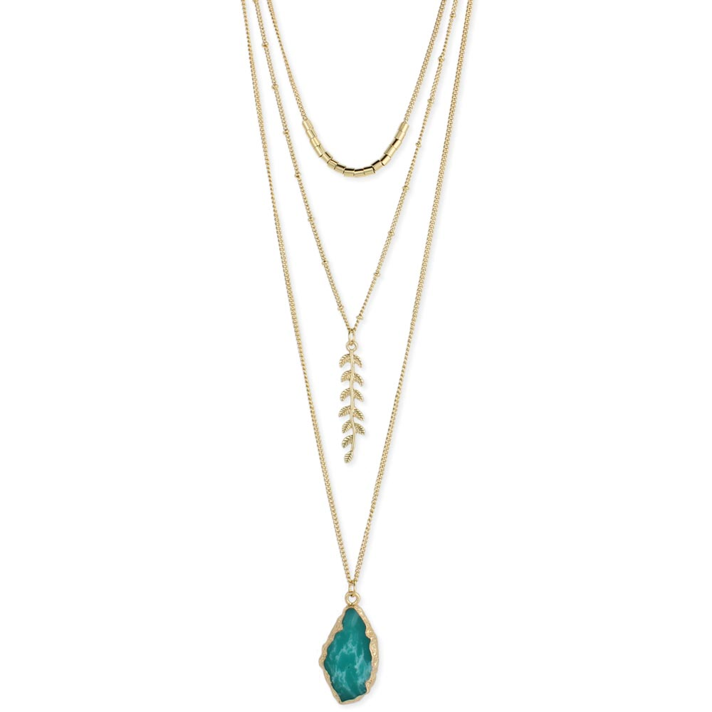 gram gold plated stone one pin necklace designs green imitation