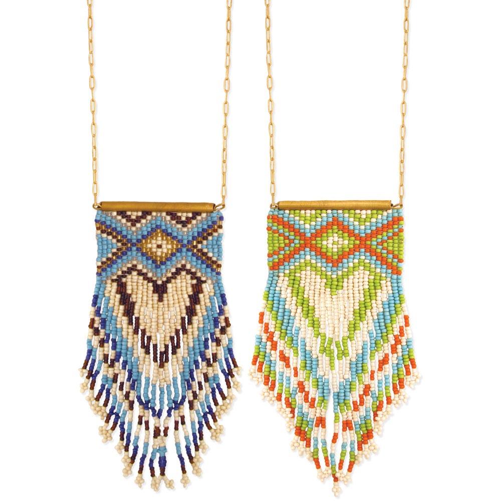 Wholesale Peyote Stitch Fringe Necklace Zad Fashion