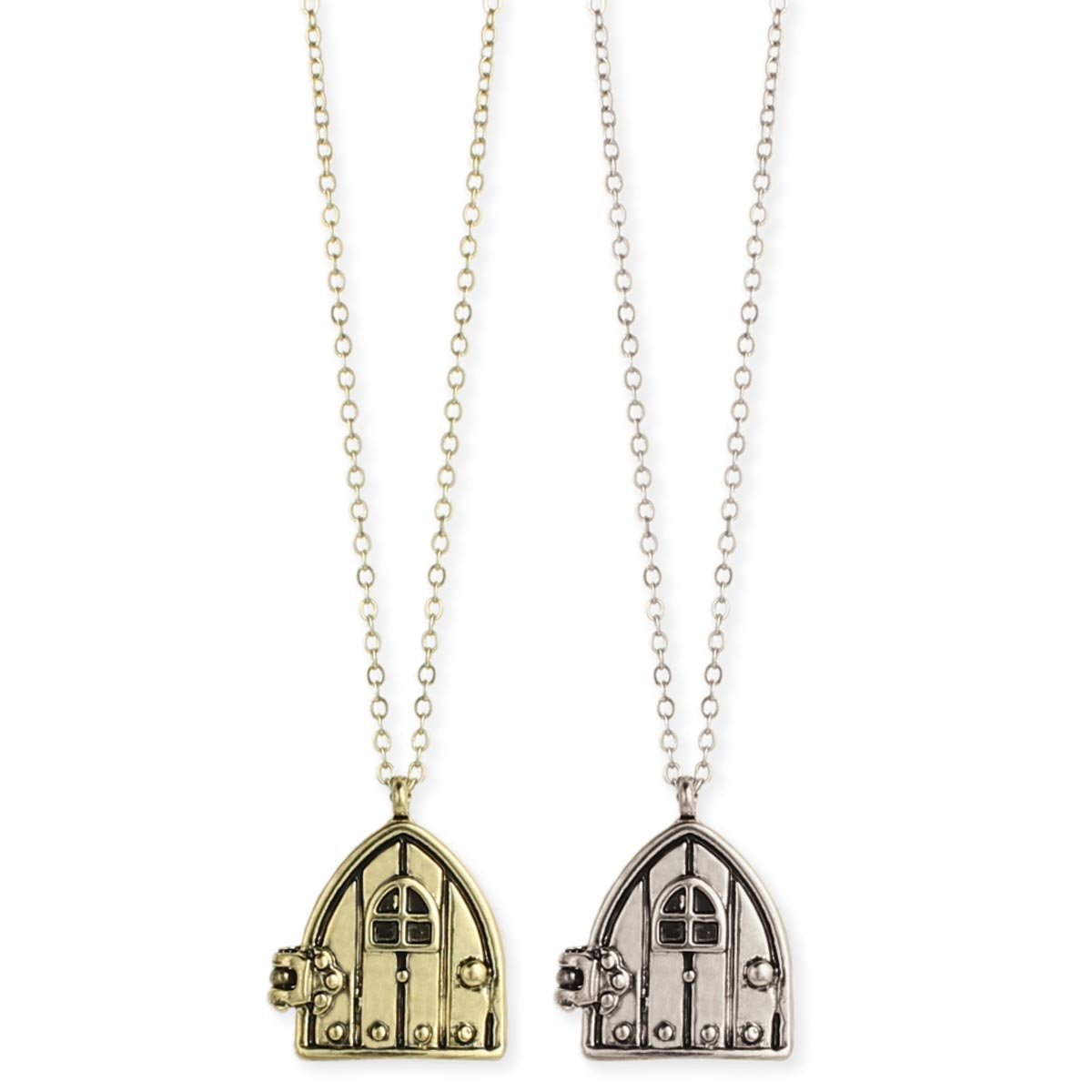 Gold & Silver Fairy Door Pendant