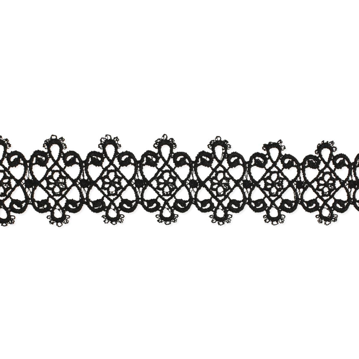 Black Victorian Crochet Choker Necklace