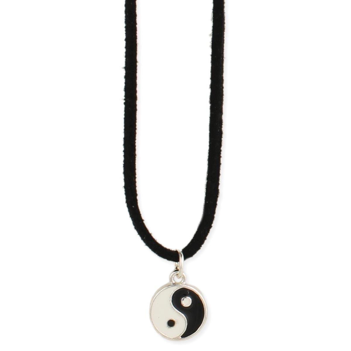 Black cord yin yang pendant necklace black cord yin yang pendant necklace view detailed images 2 aloadofball Images