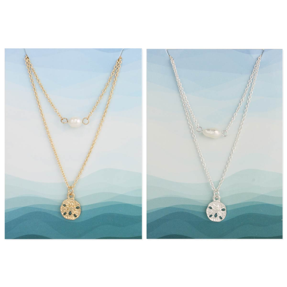 Sandoller & Pearl Layer Necklace