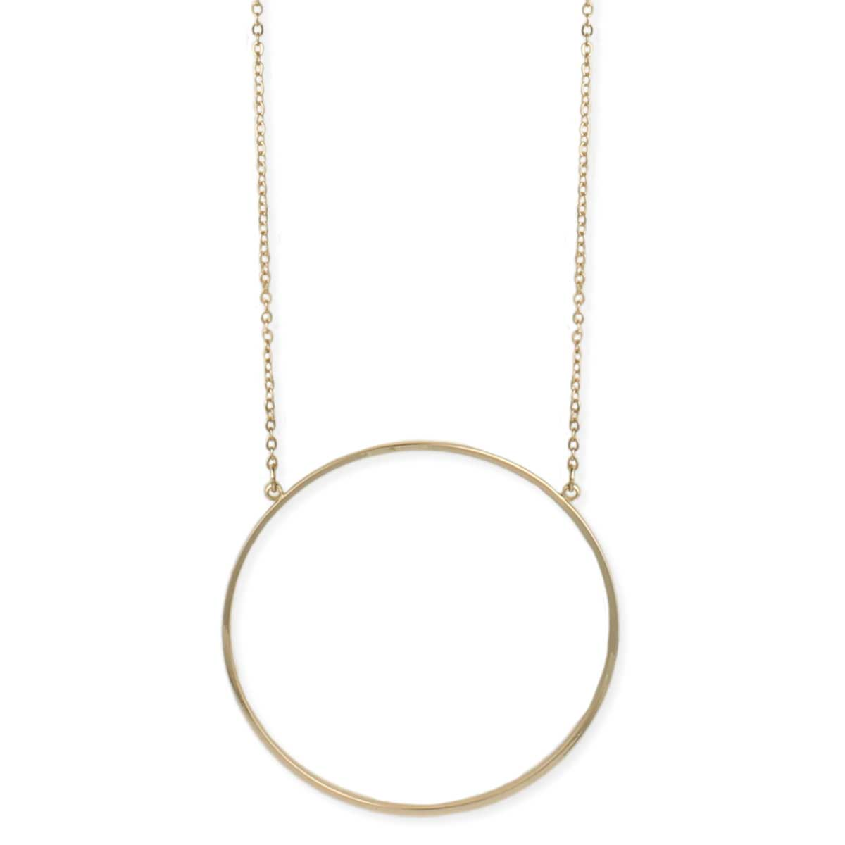 Gold circle pendant long necklace gold circle pendant long necklace view detailed images 2 aloadofball Image collections