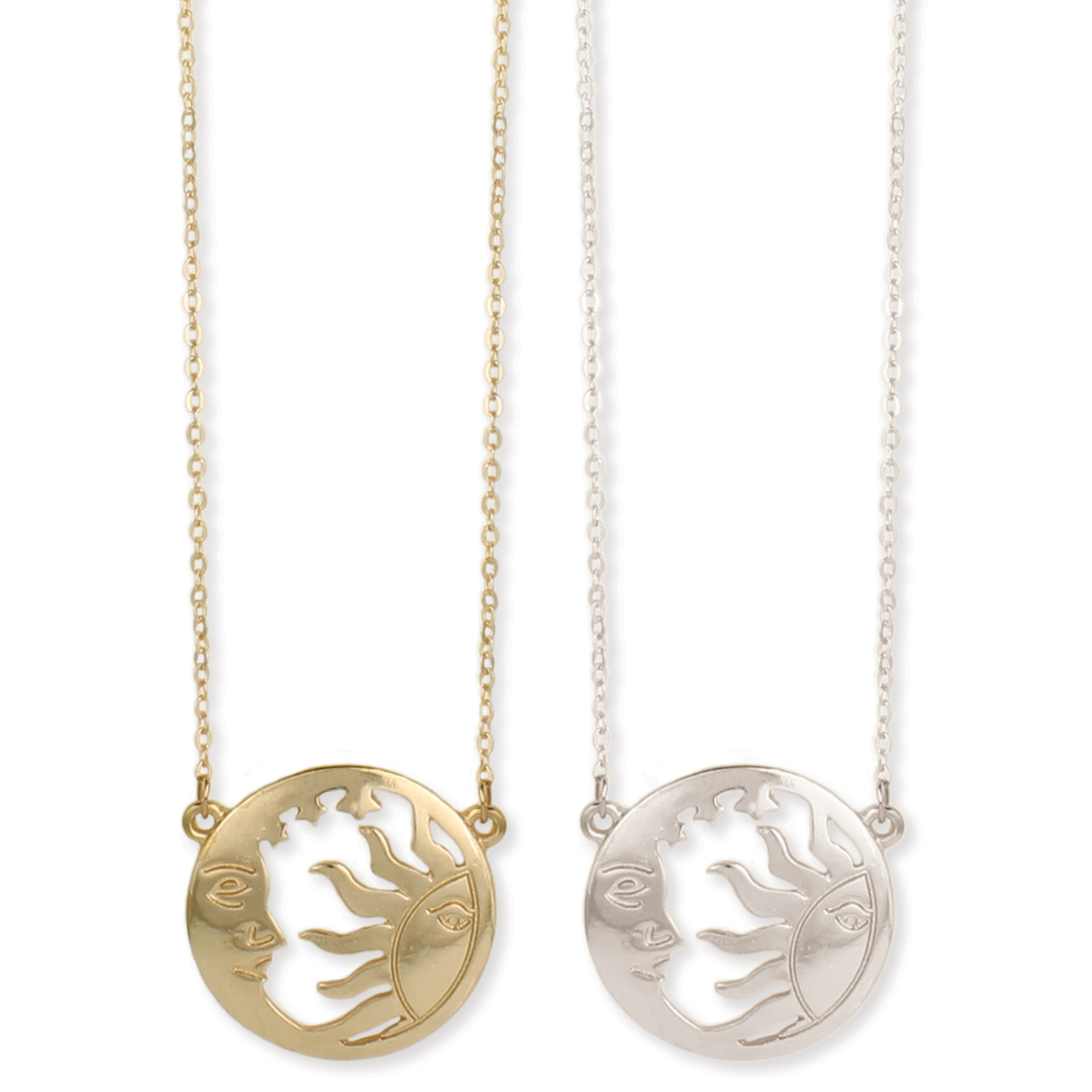 41bf3adf8f Setting Sun, Rising Moon Cutout Pendant Necklace. View Detailed Images 2 ...