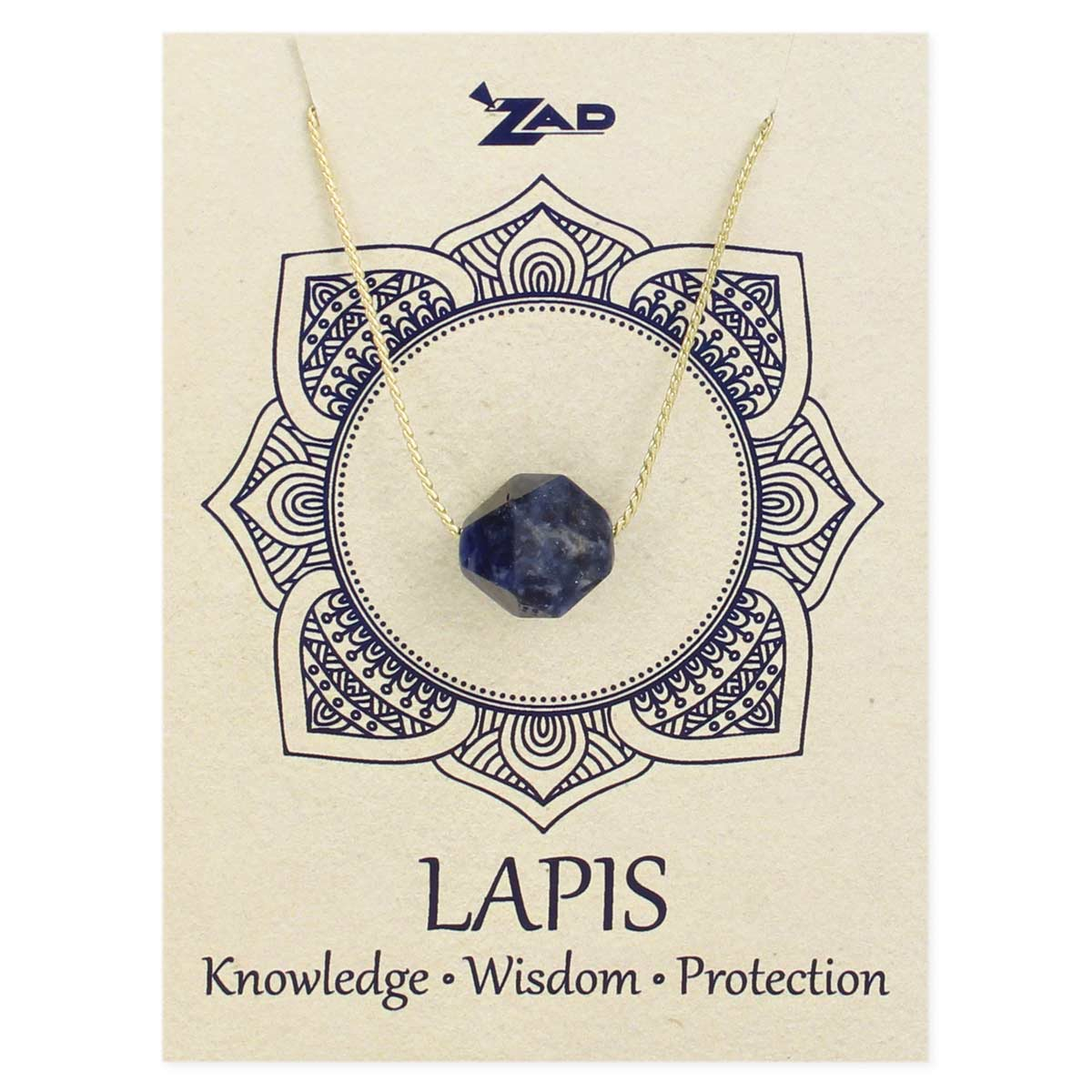 Facet Lapis Necklace on Card