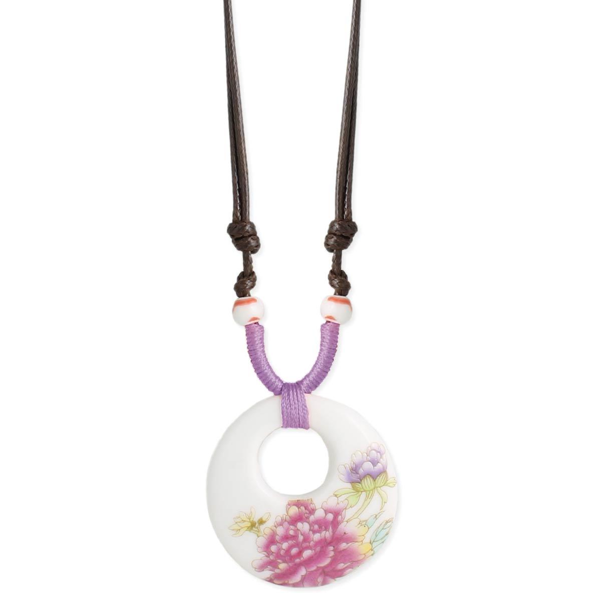 Floral Porcelain Necklace