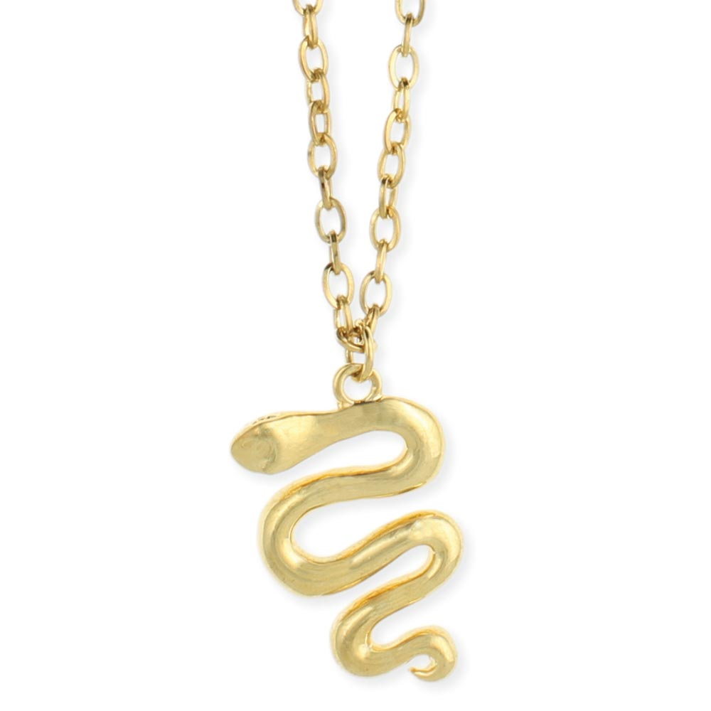 Wholesale gold snake pendant necklace zad fashion costume trend gold snake pendant necklace view detailed images 2 aloadofball Image collections