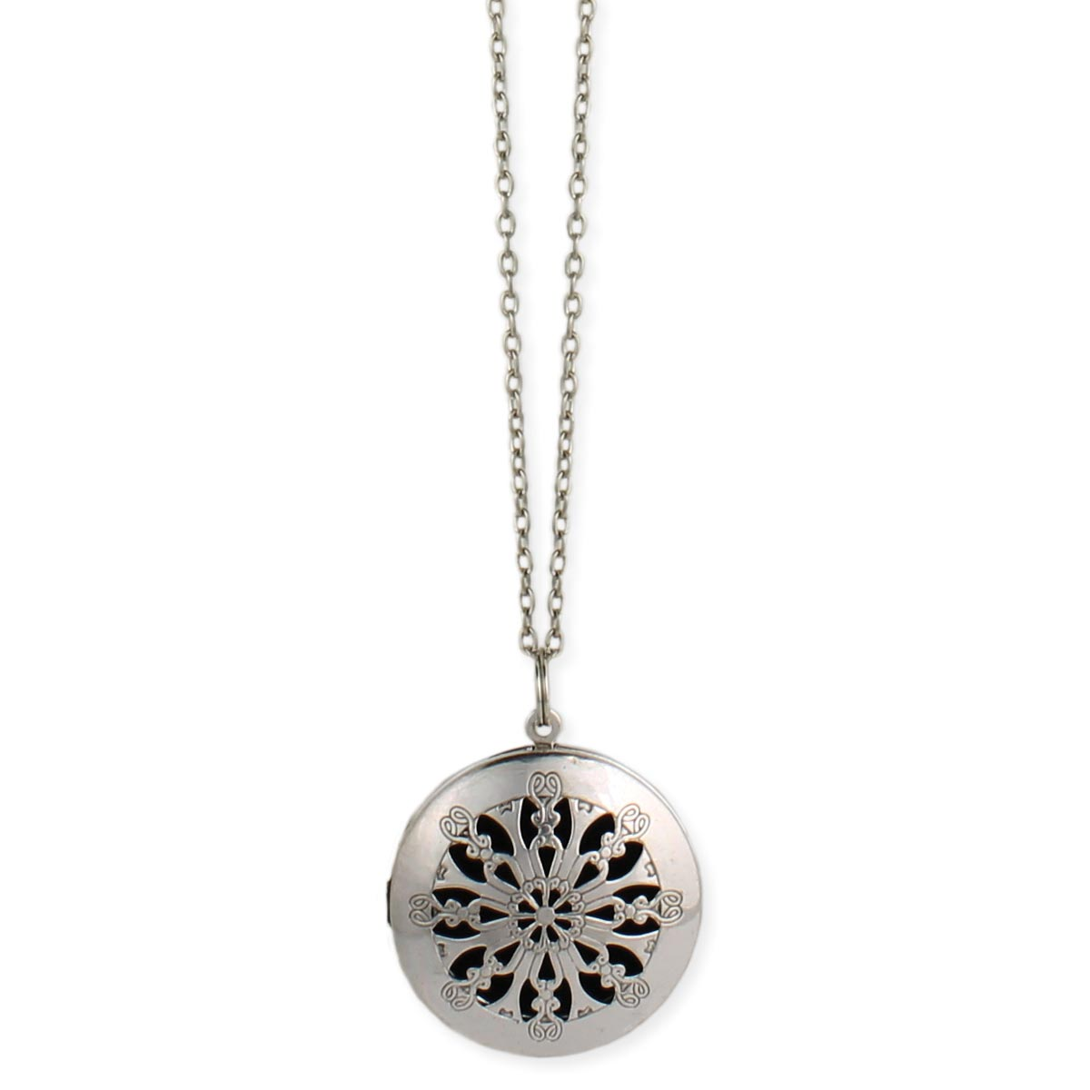 wholesale silver cutout diffuser locket long necklace zad fashion