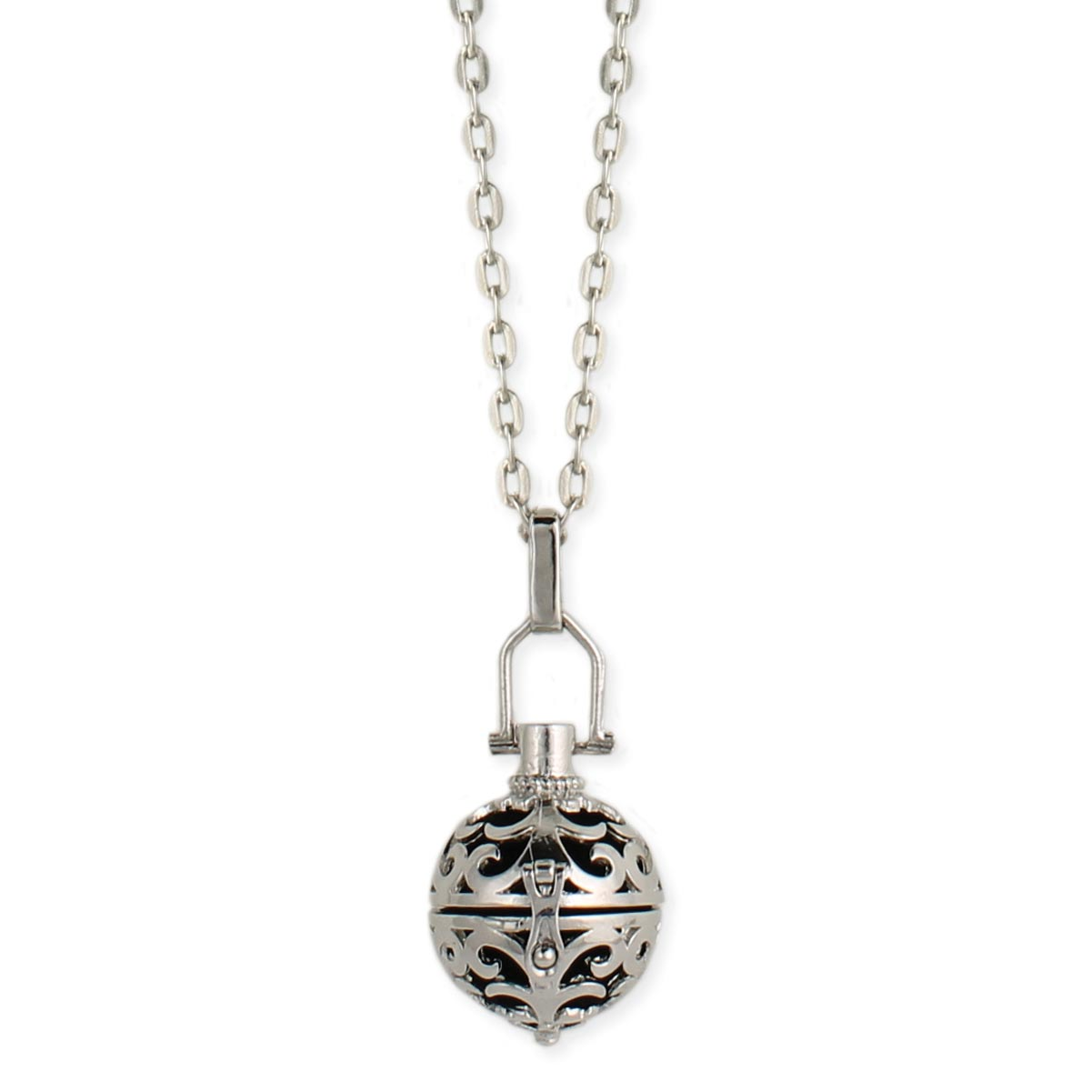 wholesale silver cutout diffuser locket necklace zad