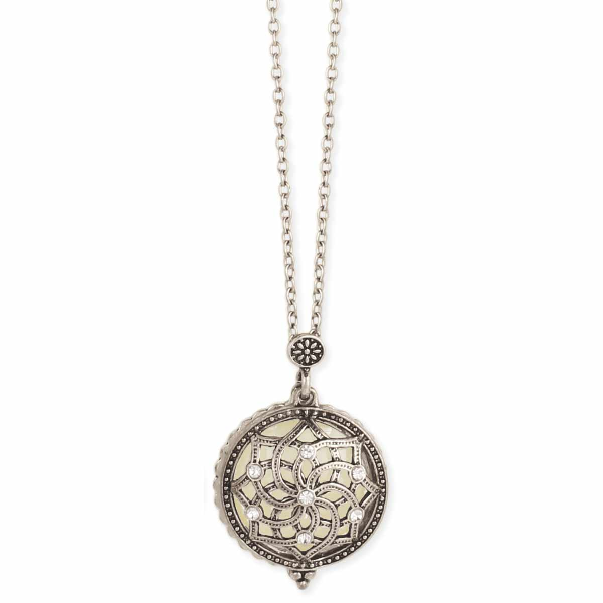 Gold & Crystal Magnifying Necklace