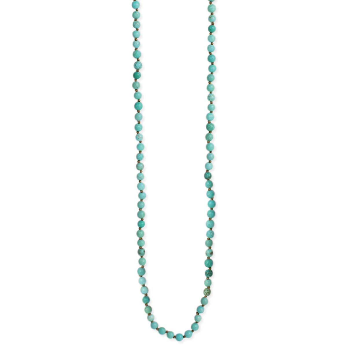 4mm Turquoise Bead Long Necklace