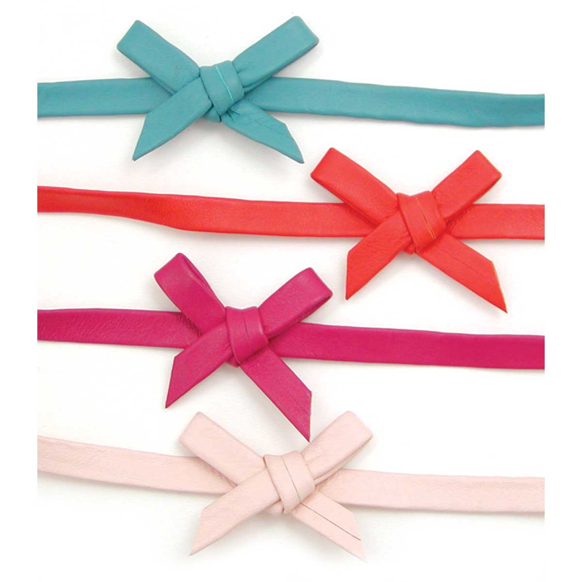 Leather Bow Choker in 4 Colors