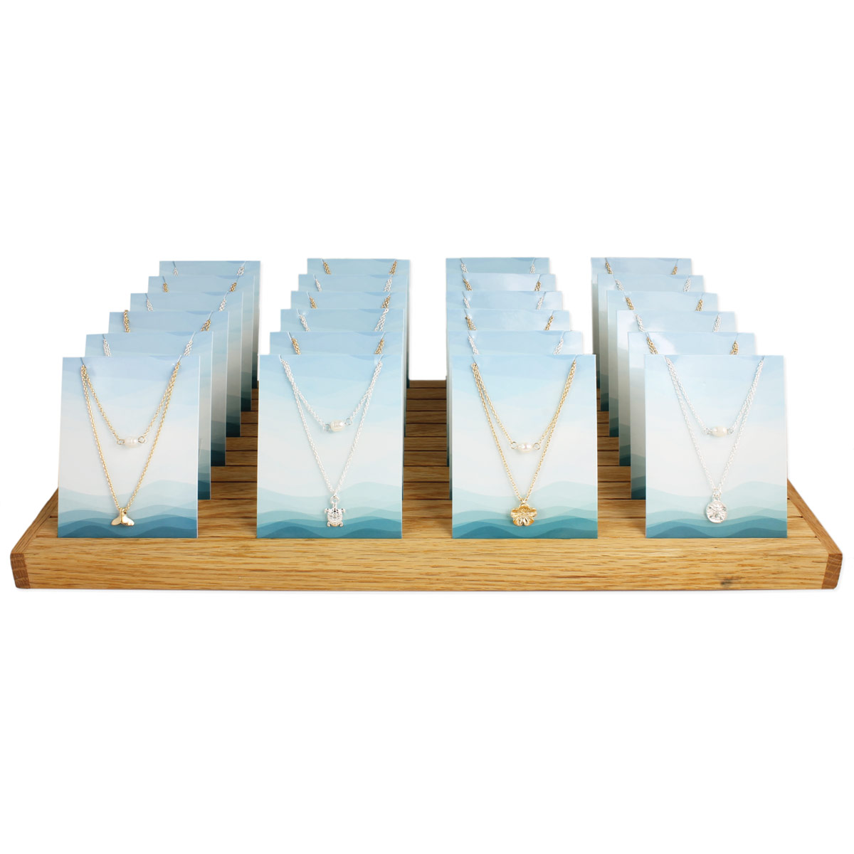 Ocean Necklaces in Wood Counter Display