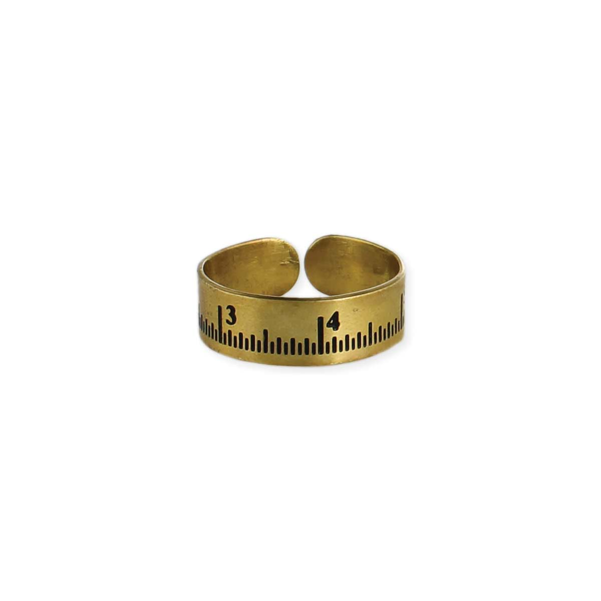 Gold Adjustable Measuring Tape Ring
