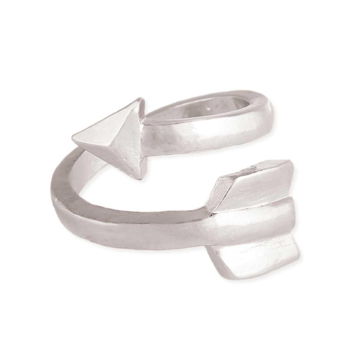 Silver Arrow Wrap Ring