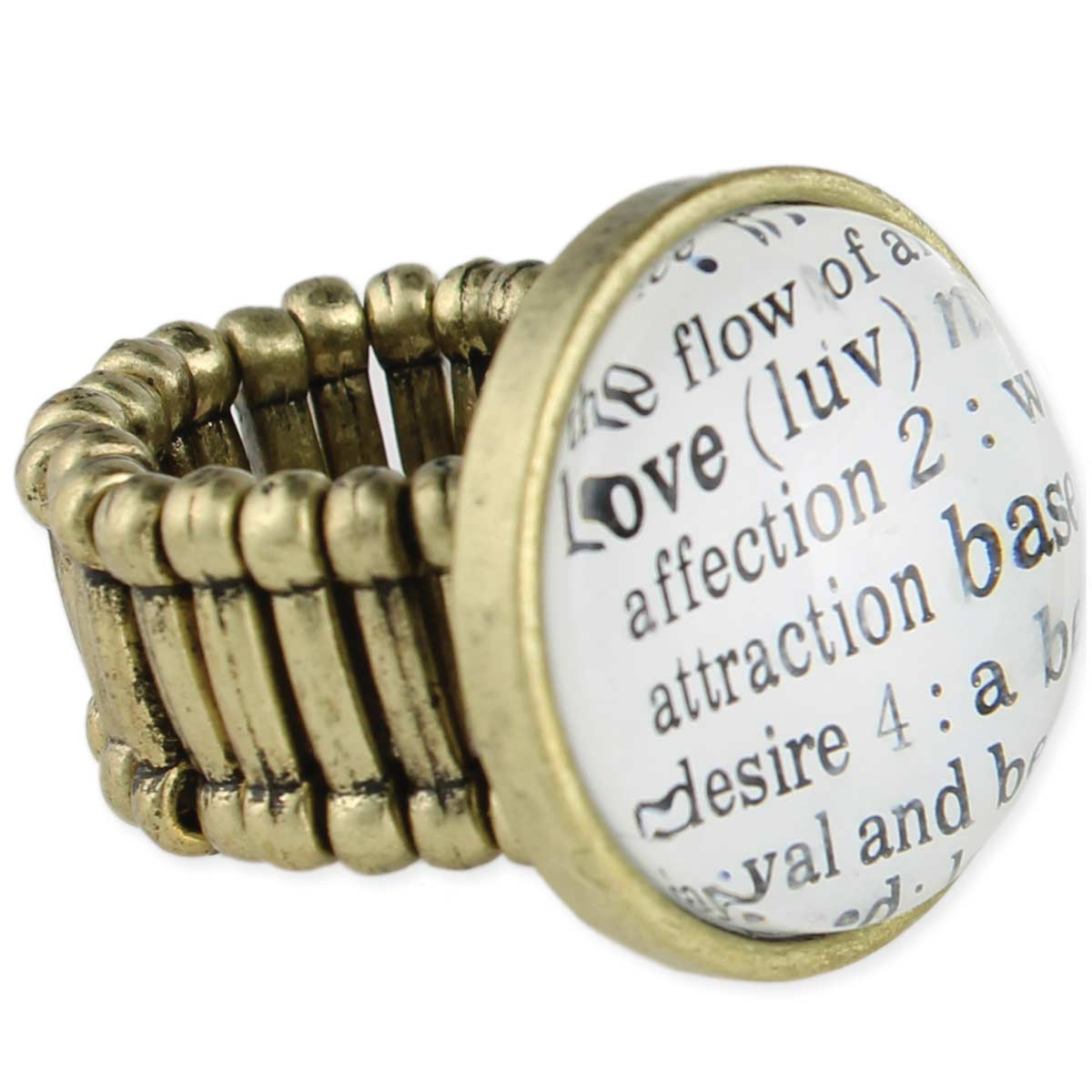 Gold Dictionary Definition Stretch Ring