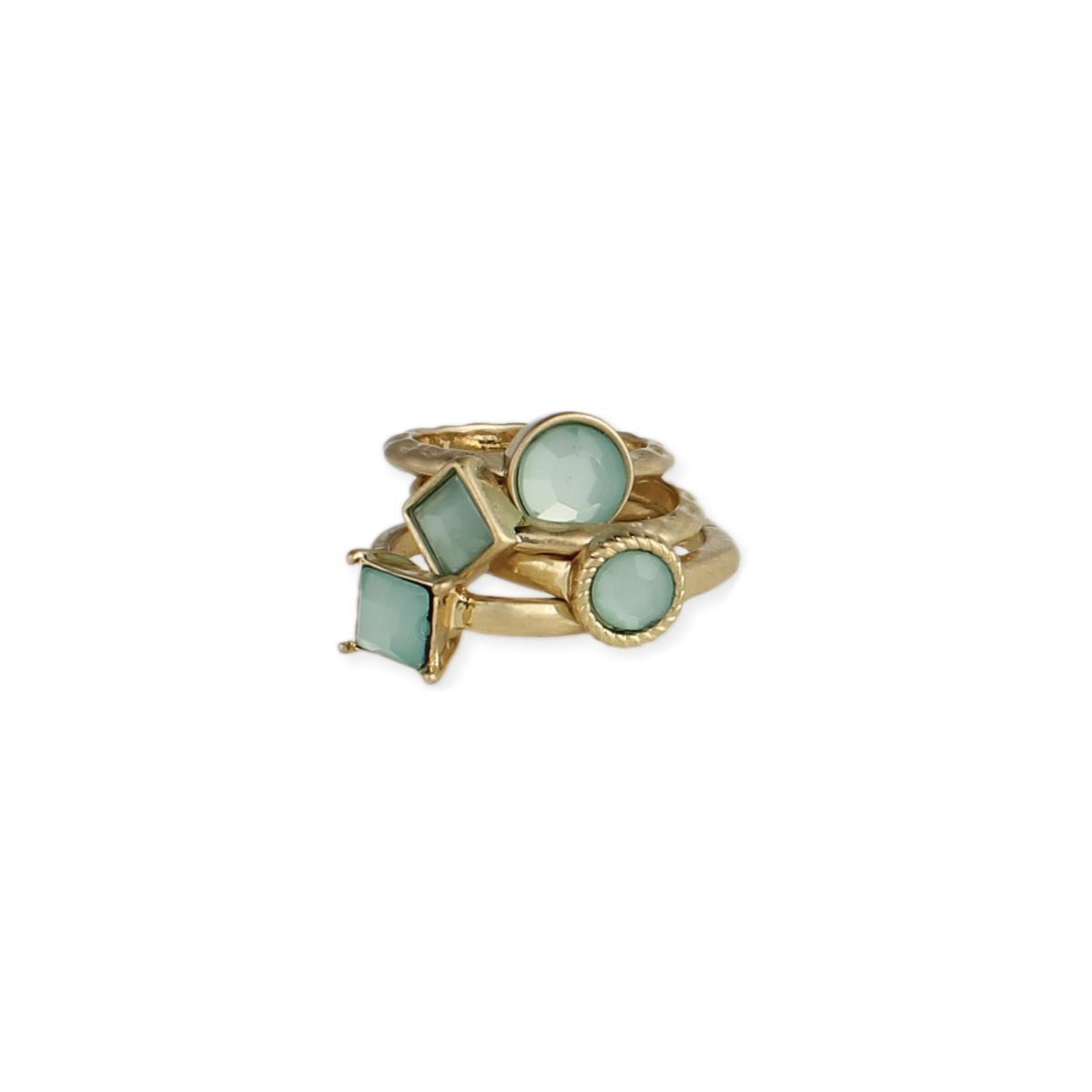 Set of 4 Mint Rings