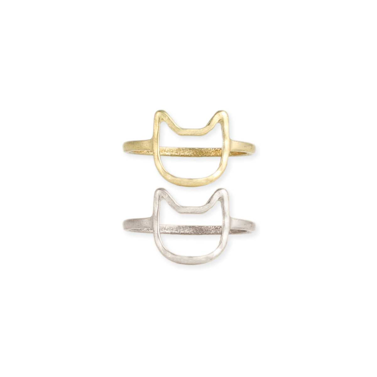 cat face outline ring