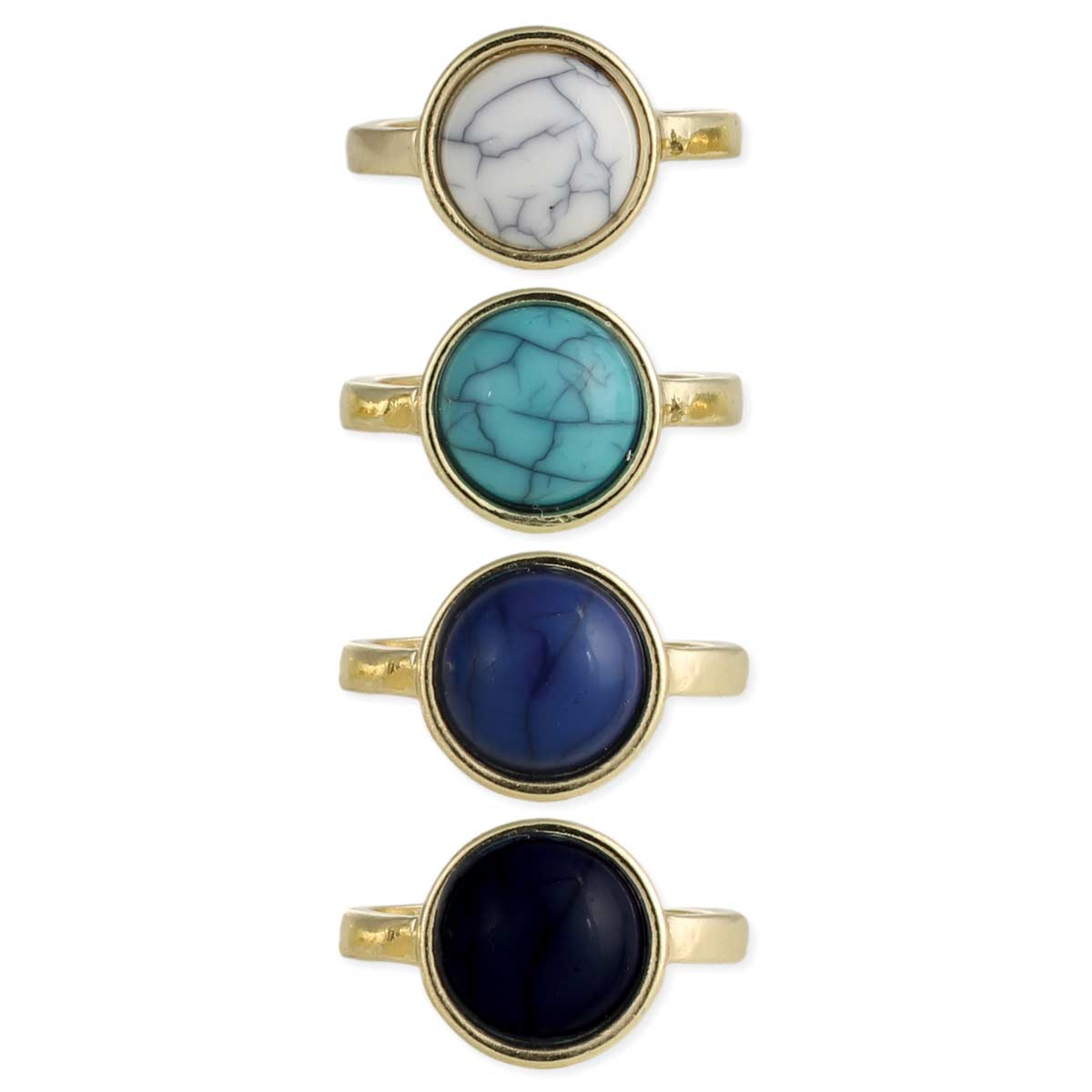 Gold & Round Stone Rings