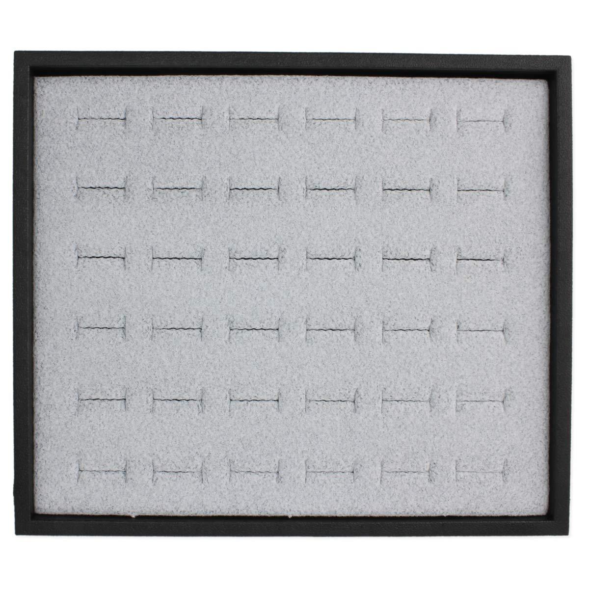 Black Tray Grey Pad Ring Tray