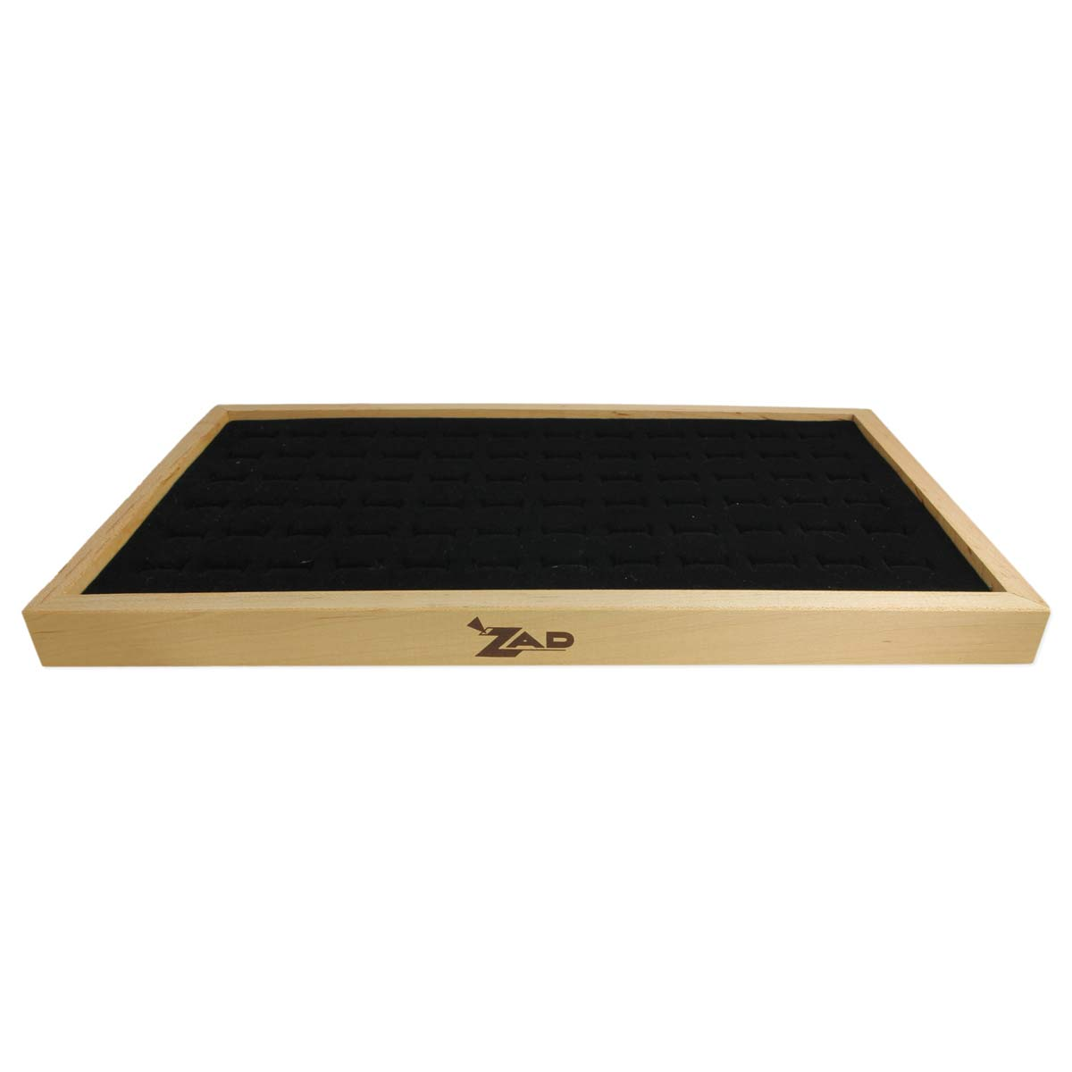 Wood Ring Tray with Black Pad