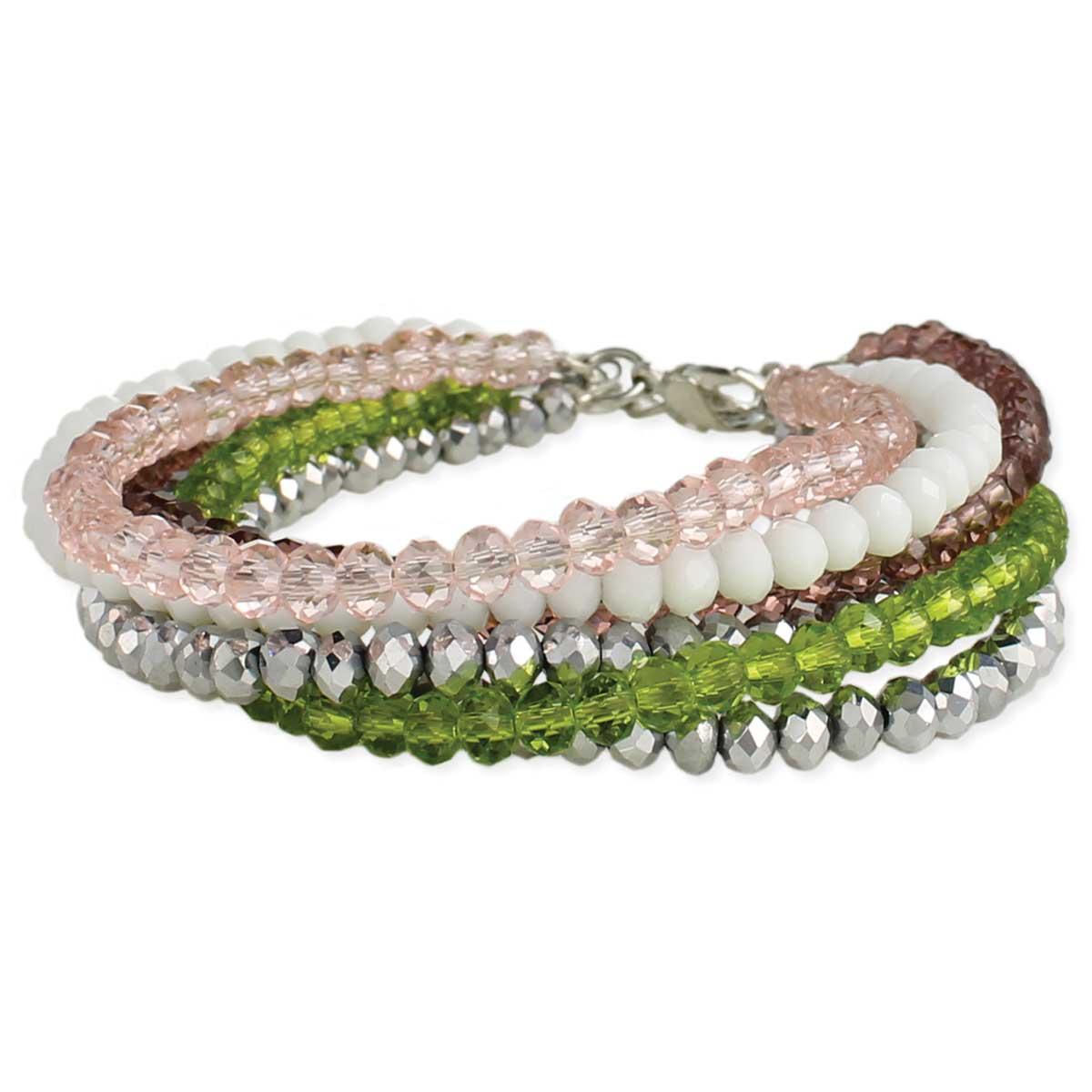Facet Bead Multi Line Bracelet
