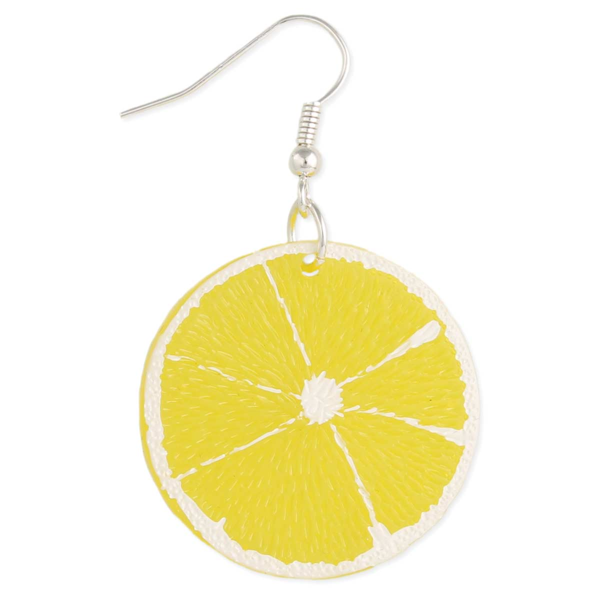 Yellow Lemon Slice Earring
