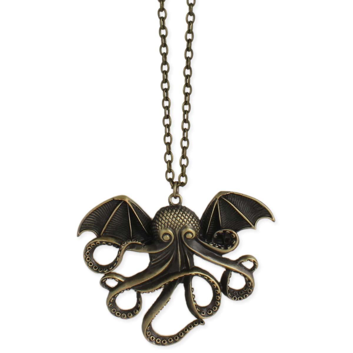Gold Cthulhu Necklace