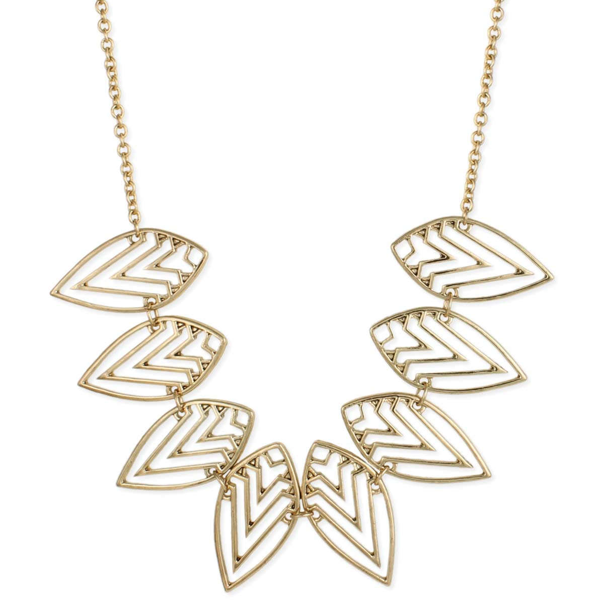 Gold Geometric Southwest Bib Necklace