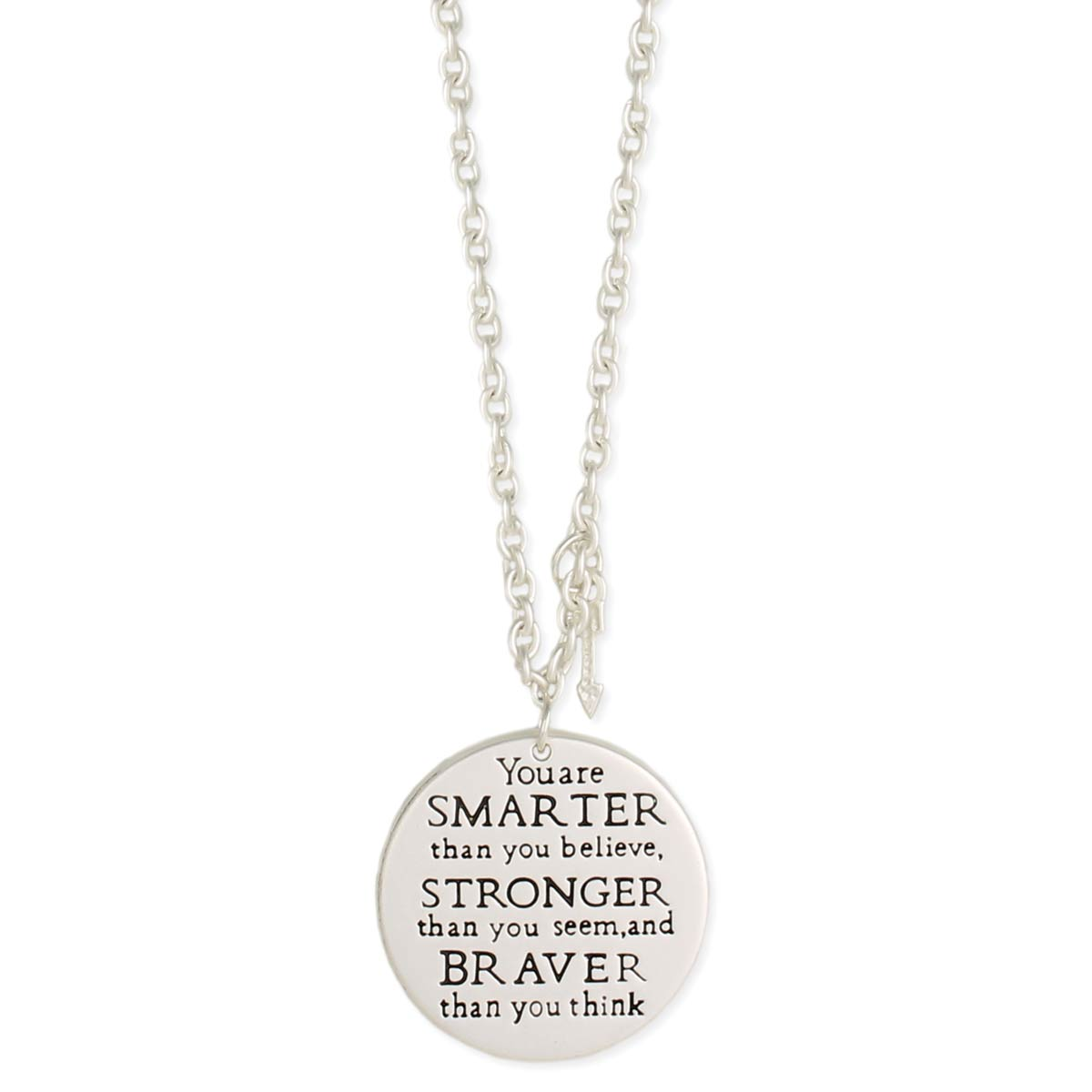 Silver AA Milne Quote Necklace