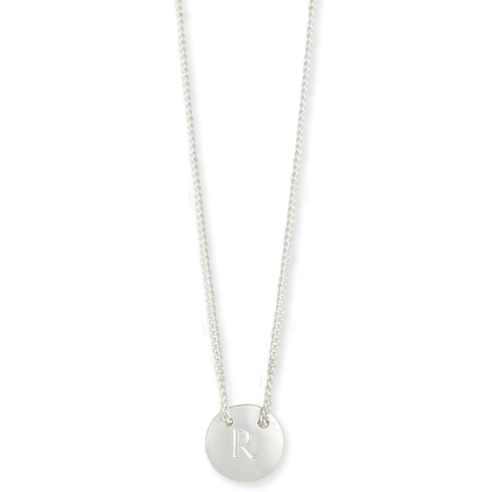 Wholesale silver round initial pendant necklace zad fashion silver round initial pendant necklace mozeypictures Gallery