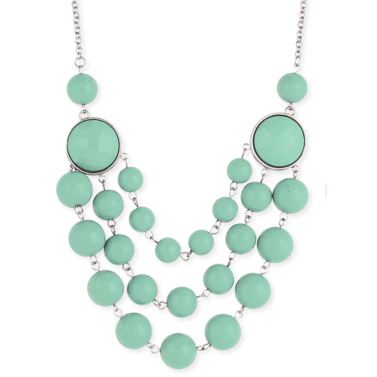 Mint Bead Bauble Necklace