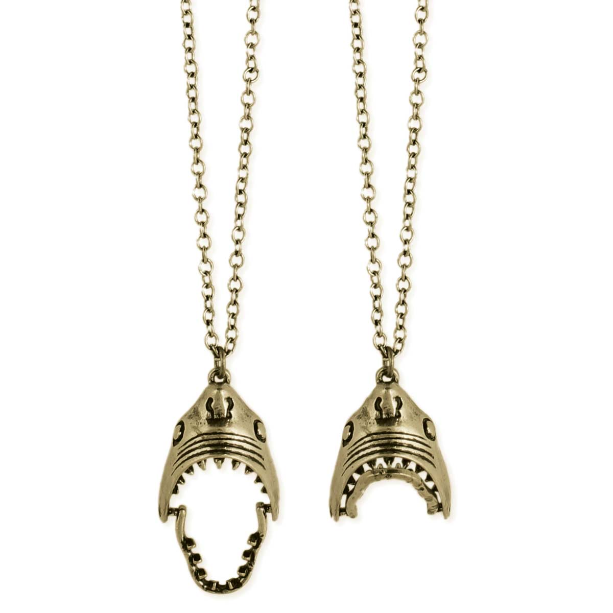 Gold Shark Skull Necklace