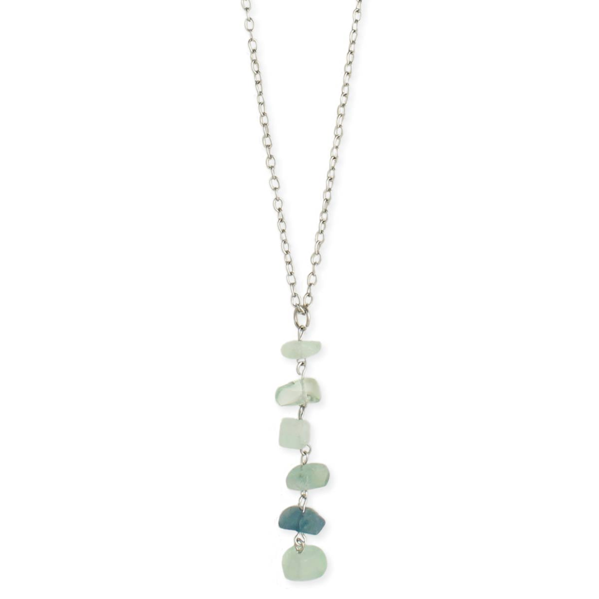 Green Aventurine Linear Pendant Necklace