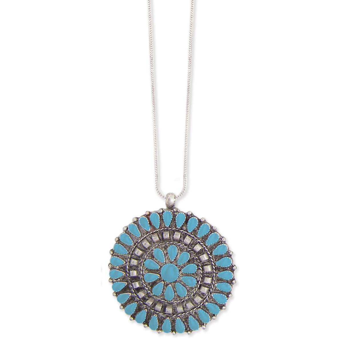 Southwest Turquoise Pendant Necklace