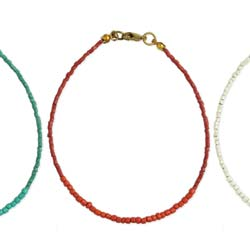 Simply Southwest Color Beaded Anklet