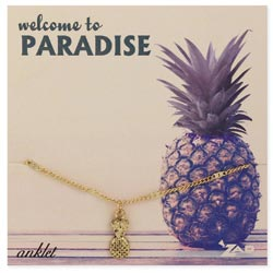 Pineapple Charm Carded Anklet