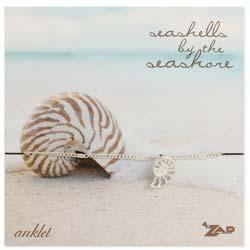 Beach Treasure Seashell Charm Carded Anklet