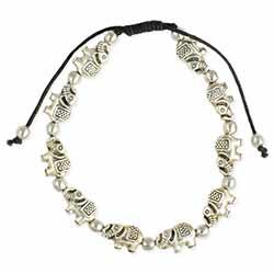 Protective Herd Silver Elephant Pull Bracelet