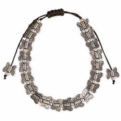 Butterfly Bunch Silver Pull Bracelet