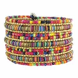 Multi Sequins & Bead Cuff Bracelet
