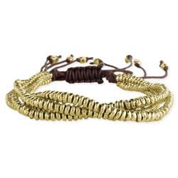 Gold Bumper Bead Pull Bracelet