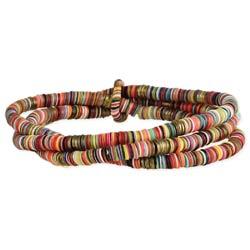 Color Explosion Rainbow Sequin Stretch Bracelet Set
