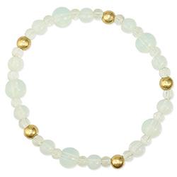 Elegant Opalite Bead Stretch Bracelet